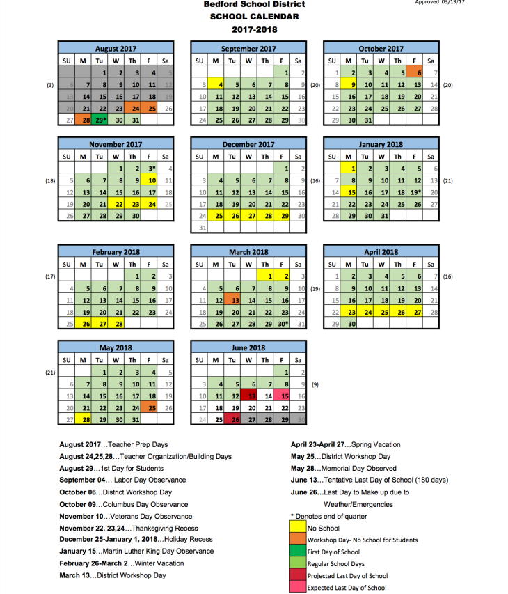 Bedford County School Calendar 2019 School District Calendar | BEDFORD PTG